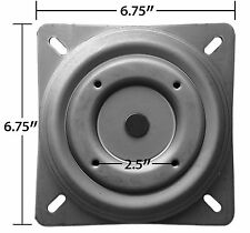 "Replacement Bar Stool Swivel 6.75"" Square w/ Round Bottom Plate Flat - S5447"