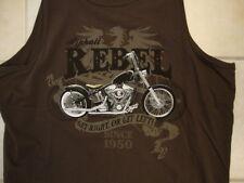 """Newport Blue Asphalt Rebel """"Get Right or Get Left"""" Sleeveless T Shirt XL"""