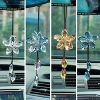 Crystal Flower Suncatcher Car Rear View Mirror Pendant Home Window Hanging Decor