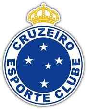 "Cruzeiro Esporte Clube FC Brazil Football Soccer Car Bumper Sticker Decal 4""X5"""
