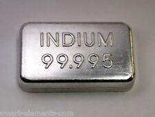 Indium Metall Barren hochrein 100g - 99.995% + Analyse