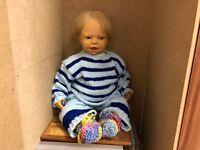 Hofheimer Kinder Vinyl Puppe 62 cm. Top Zustand
