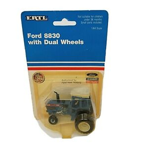 ERTL Ford 8830 with Dual Wheels Tractor 1/64 Scale Vintage 1990 New In Package