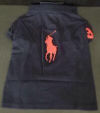 NWT Ralph Lauren Polo Dog Shirt Navy Big Red Pony Sz S/M Fits 7-9 Pound Dog S/M