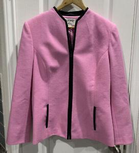 Kasper A.S.L.  Blazer Jacket Pink Black Size 12