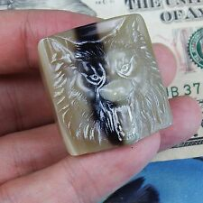 No metal Ring Ox born carving Wolf animal rings pendant (24 mm,BR04)