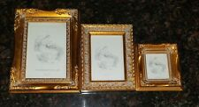 Gorgeous Set of 3 Melannco Ornate Gold Picture Frames