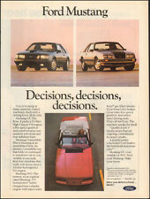 1984-Ford Mustand GT Convertible`Red Blue Silve-Print Ad