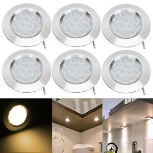 6x 12V LED Decken Leuchte Beleuchtung Für Küche Wohnwagen Wohnmobil 3W Warmweiß
