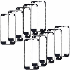 """10x Front Middle Frame Bezel LCD Holder For iPhone 6 PLUS 5.5"""" BLACK WITH GLUE"""