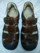 Keen Mens Brown Leather Sandals Closed Toe Size 10