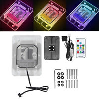CPU Water Cooling Block RGB Light + Control Set G1/4 Thread for AMD AM3/AM4/TR