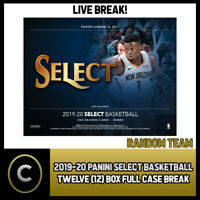 2019-20 PANINI SELECT BASKETBALL 12 BOX (FULL CASE) BREAK #B347 - RANDOM TEAMS