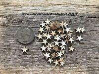 50 Tiny Laser Cut 3/8 inch Mini Wood Stars, Confetti - DIY wood craft flag