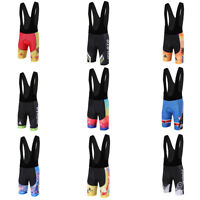 Men's Padded Cycling Bib Shorts Coolmax Bike Bicycle Bib Knicks Tights S-5XL
