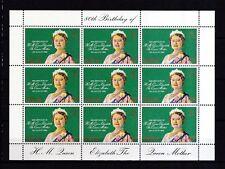 Gibraltar 1980 postfrisch Kleinbogen Satz MNr. 408 Königinmutter Elisabeth