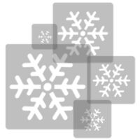 5x reusable PLASTIC Stencils / 34x34cm to 9x9cm Nursery KIDS Template SNOWFLAKE