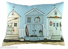 "17""x13"" Boardwalk Sally Swannell Cushion Evans Lichfield DPA277 43x33cm Beachhut"