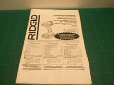 "R86034 RIDGID 1/4"" 18V Impact Driver Operator's Manual - ONLY"