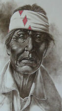 "DAN MILLER ""INDIAN MAN""LITHOGRAPH BY ""THE GREENWICH WORKSHOP"",SIGNED."