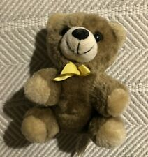 "5"" Similac Brown Plush Teddy Bear Stuffed Animal Yellow Ribbon Rosco EUC"