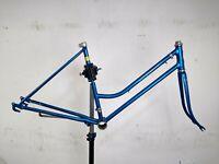 "SCHWINN BICYCLE FRAME Coaster Breeze  VINTAGE 1970s w/kickstand Fork 26"" Blue"