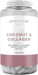 Myvitamins Coconut & Collagen With Vitamin C 60 Capsules NEW FREE UK POSTAGE!