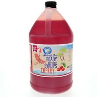 Snow Cone Syrup or Hawaiian Shaved Ice, Ready to Use, Cherry (128 Fl. Oz)