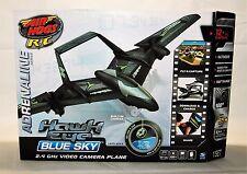 Air Hogs Radio-Controlled Hawk Eye Blue Sky Plane, Black - On-board Video Camera
