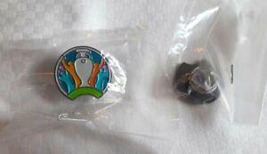 EURO 2020 official logo metal / enamel pin lapel badge 2cm sealed NEW