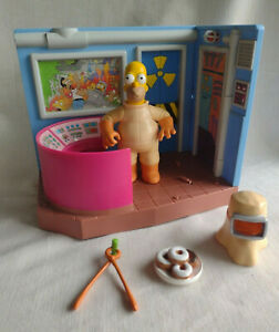 The Simpsons Nuclear Power Plant w/ Homer Talking Playset Playmates WOS Complete