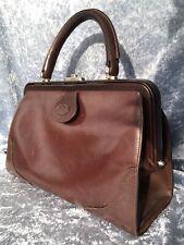 """Alte Ledertasche Vintage Damenhandtasche """"Etienne Aigner"""" Dunkelbraun"""