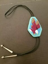 Attacking Eagle Bolo Tie Vintage Native American Beaded