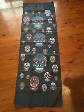 She or Mancave flag  skull wall hanging biker Harley gothic poster sugar skullS