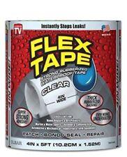 """Flex Tape Clear 4"""" x 5' - Super Strong, Rubberized, Waterproof Flex seal Tape"""