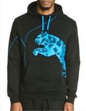 e14f34b98857a NEUF Sweat PUMA 2XL noir bleu logo veste sport gilet foot crossfit running  poche