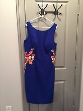 New With Tags Chi Chi London Blue Summer dress Sz. 16 UK