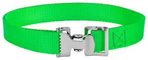 10 - Alligator Clip Nylon Tie Down Straps - Hot Green - 8 Feet