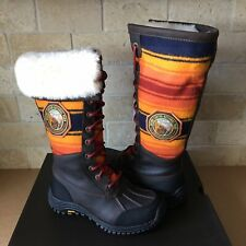 UGG Adirondack Tall Pendleton Grizzly Waterproof Leather Snow Boots Size 5 Women
