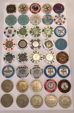 Lot of 40 Vintage Casino Chips Northern Nevada Reno Tahoe Wendover Pahrump
