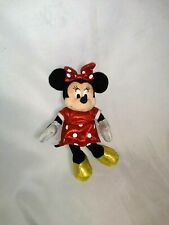 """New listing Disney Ty Sparkle Minnie Mouse Plush Toy 9"""" Red Polka Dot Dress Yellow Shoes"""