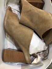 Steve Madden 5832 Womens Rebeckka Taupe Suede Mules Shoes 9 Medium NIB