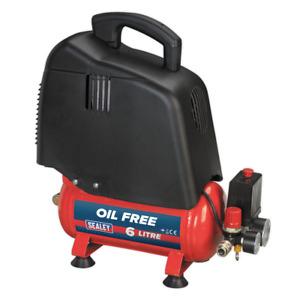 Sealey SAC00615 Compressor 6ltr Belt Drive 1.5hp Oil Free SUM21