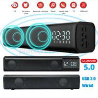 Wireless bluetooth / USB TV Sound Bar Speaker Theater Subwoofer Stereo Soundbar