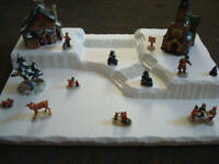 Christmas Village Display Platform C14 For Lemax Dept 56 Dickens + More