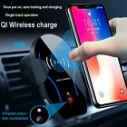 Qi Wireless Fast Charger Infrared Sensor Auto Lock Car Air Vent Mount Holder