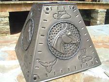 Western Metal Tin Punch Horse Lamp Shade Sm