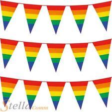 Boland Rainbow Gay Pride Multi-coloured Bunting Celebration Decoration 8m