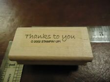 THANKS TO YOU RUBBER STAMP QUOTES SAYINGS FUN FONT SPECIAL THANK YOU
