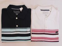 NEW MEN'S BANANA REPUBLIC S/S STRIPED POLO SHIRT, PICK A SIZE AND COLOR
